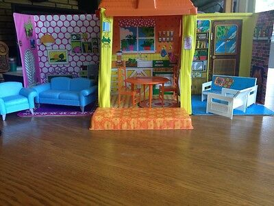 Vintage 1970s BARBIE Matel Country Living Home With Lots of Furniture