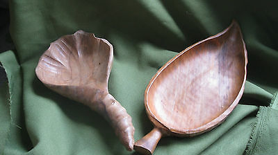 Pair Of Unusual Wooden Dishes/ Servers