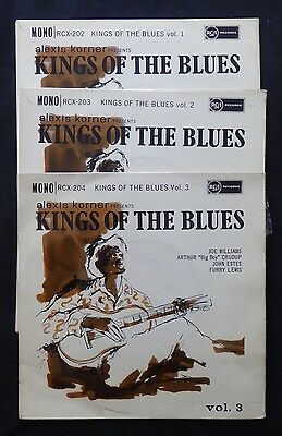 ALEXIS KORNER King Of The Blues VOL 1, 2 and 3 UK 1st RCA 45 3 x EP EX