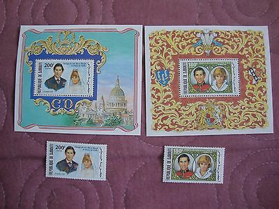 Royal Wedding 1981 Prince Charles & Diana Djibouti stamps, Miniature Sheets