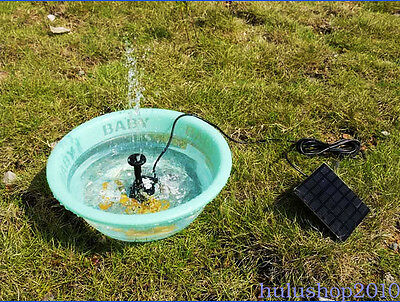 Solar Power Water Pump Panel Submersible Fountain Pond Garden Pool Watering WK97