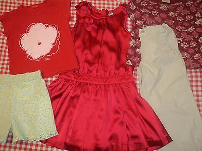 Girls Designer Summer Clothes Age 4-5 Years Party Dress Laura Ashley Shorts