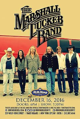 MARSHALL TUCKER BAND 2016 NEW YORK CONCERT TOUR POSTER - Southern / Country Rock