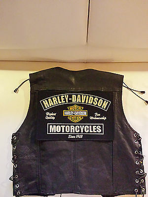 Harley Davidson Backpatch Fine Workmanship 32x21cm Kutte Biker Chopper MC