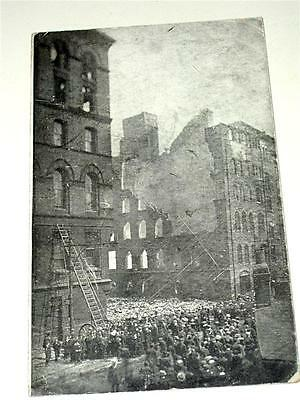 THE GREAT FIRE IN LEEDS, WELLINGTON STREET c1906 REAL PHOTO RP POSTCARD!