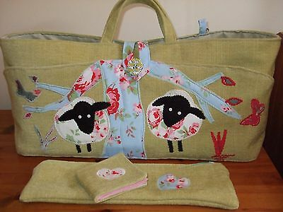 Knitting Sewing Craft Bag Sheep Detail Hand Made New