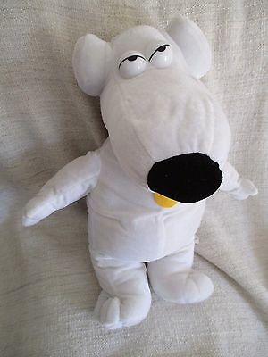 FAMILY GUY - large Brian the dog plush soft toy VGC