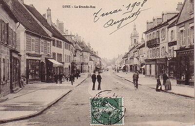 Haute Saone - Lure - La Grand-Rue - Carte Datee De 1908.