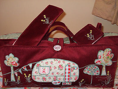 Knitting Bag Handmade Caravan Scene Applique In Cath Kidston Fabric