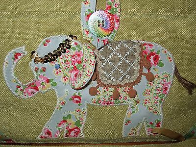 Knitting Sewing Craft Bag Elephant Detail Hand Made New
