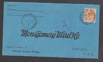 1919 British Honduras (Montgomery Ward) cover to USA - Posted at Stann Creek
