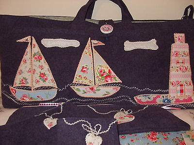 Knitting Bag Lighthouse,yachts +Accessories Handmade New
