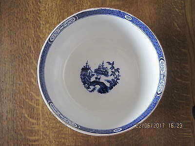 Antique Victorian Blue And White 1880 Bowl Chinese Decoration Lozenge  Date Mark
