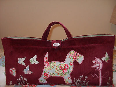 Knitting/sewing/crochet Bag Red Dog Applique New Hand Made