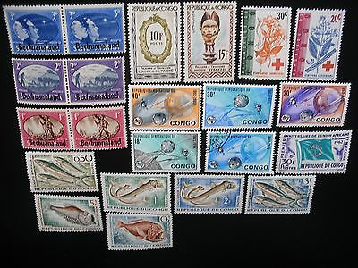African States Collection, 65 Different Stamps MLH OG