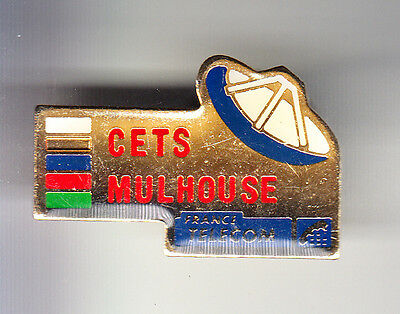 Rare Pins Pin's .. Ptt La Poste France Telecom Tv Cets Mulhouse 68 ~Bq