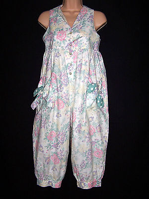 Laura Ashley vintage mother & child label playsuit jumpsuit dungarees 9-10 Yrs