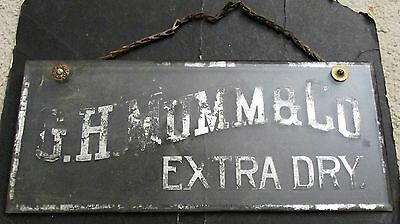 G.H. Mumm & Co. Extra Dry Champagne & Wine Reverse Glass Sign