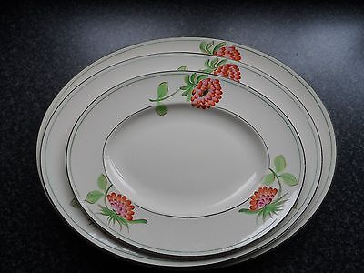 VINTAGE ROYAL IVORY PLATES x 3 JOHN MADDOCK & SONS LTD