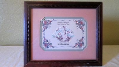 Crossoak Industries Double Matted Embroidered Picture
