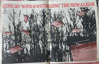 GENESIS : Wind & Wuthering -Poster Size NEWSPAPER ADVERT- 1977 60cm X 40cm