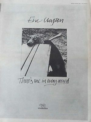 ERIC CLAPTON : There's One In Every -Poster Size NEWSPAPER ADVERT- 30cm X 40cm