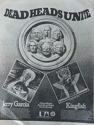 GRATEFUL DEAD : Dead Heads Unite -Poster Size NEWSPAPER ADVERT- 1976 30cm X 40cm