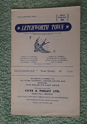 1967/68 Letchworth Town v Croydon Amateurs Athenian League