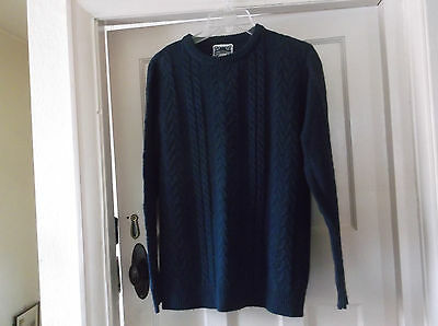 Mens Navy Cable Style Jumper - Size S - Chest 40""