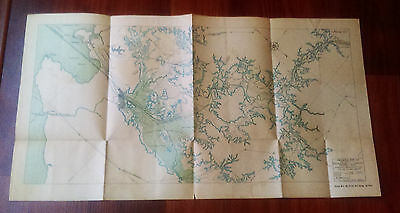1910 Map Panama canal Showing Relocation Panama Railroad Company Line Colon