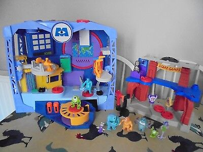 Imaginext Monsters Inc Playset & Monsters University Scare Games + Figures