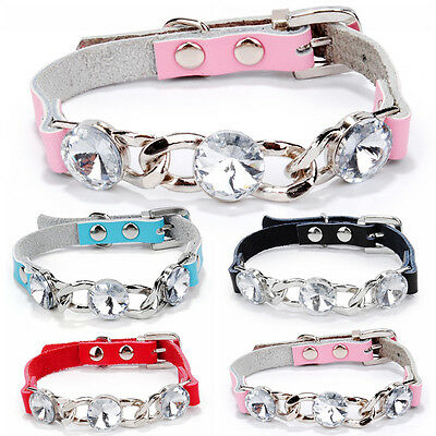 Glitter Personalized PU Leather Pet Puppy Cat Dog Collar Pet NeckStrap