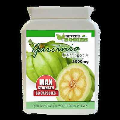 60 Garcinia Cambogia Pure 1000mg MAX DOUBLE Strength Weight Loss Diet Pills