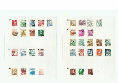 #456 Japan collection from early hinged to leaves x42