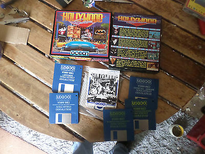 Hollywood Collection by Ocean  Amiga boxed Game Good Condition Booted