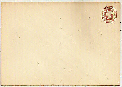 1880s QV 10d BROWN UNDATED DIE STO POSTAL STATIONERY ENV MINT UNUSED w/RF LOGO