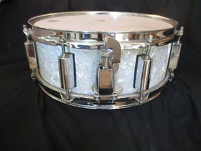 Vintage Made In Japan Snare Drum, Marine Pearl, 14 x 5, Excellent Condition