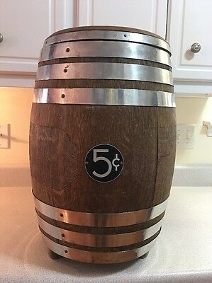 ANTIQUE WOOD FOUNTAIN SODA SHOP SYRUP BARREL KEG BAR DISPENSER, Pioneer Co.