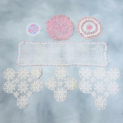 Lot Of 7 Crocheted Doilies - Lot#14