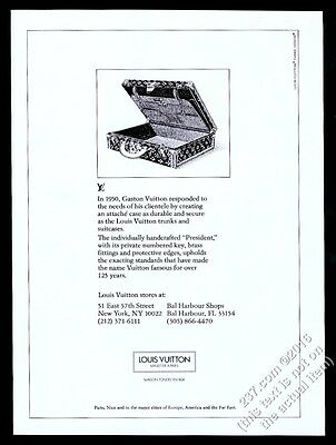 1980 Louis Vuitton President Attache case illustrated vintage print ad