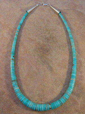 Santo Domingo Rolled Turquoise Necklace