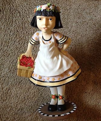 HTF Mary Engelbreit Large Cherry Girl Statue Figurine Doll Excellent Condition