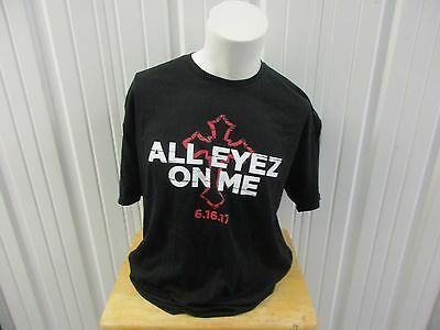 All Eyez On Me Tupac Shakur Movie Promo Xl Black T-Shirt Nwot Premier Giveaway