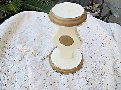 Vintage Wooden Pedestal Hat Millinery Wig Display Stand Store Shabby Chic Vanity