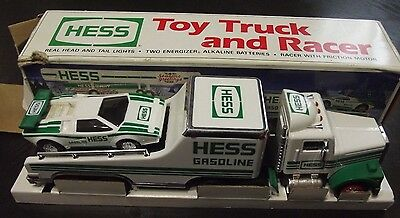 Hess Toy Truck And Racer In Box 1991 Hess Oil Good Condition
