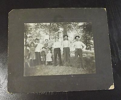 Vintage Post Mortem Photograph Man With Family Cabinet Photo