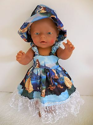 "Baby Born 17""  Dolls Clothes Blue  Beauty And The Beast  Summer Outfit"
