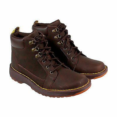 Dr. Martens Trae Mens Brown Leather Casual Dress Lace Up Boots Shoes