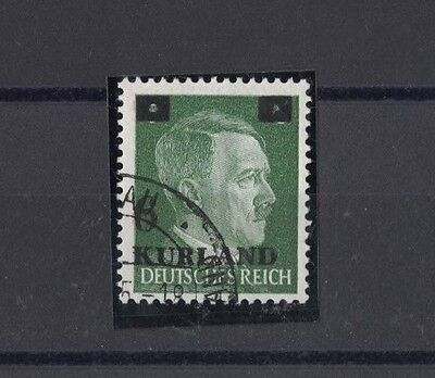 1945 Latvia, 6 on 5 green, overprint in german, rare no. 1, cancel Libau