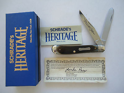 Original Usa Made Schrade Heritage 2941G  Gunstock Trapper  Knife